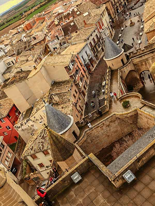 Olite: Vistas desde el castillo.